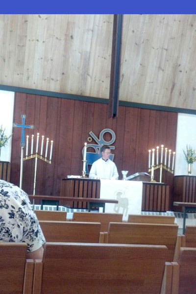 Worshipped at Nativity Lutheran with Denise Brittenbaugh.