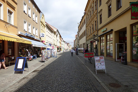Main Street at Wittenberg, Germany.