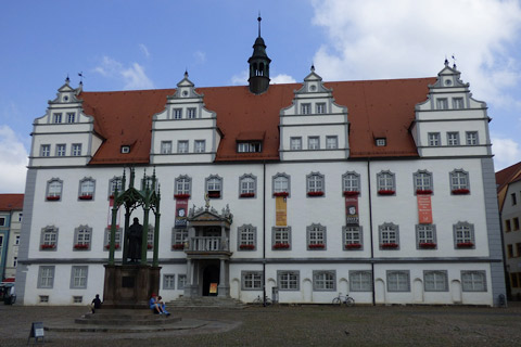 Museum in Wittenberg's town square.