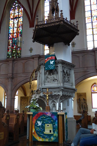 Pulpit at St. Thomas Church.