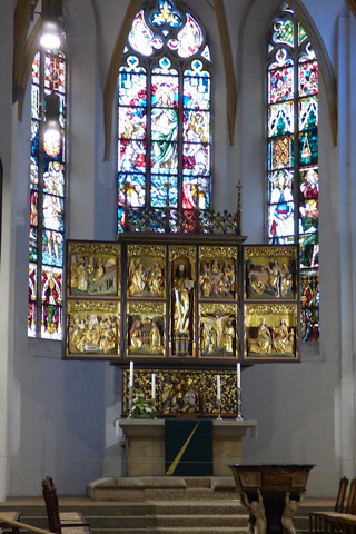 High altar at St. Thomas Church.