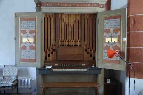Organ in the Chapter Room.