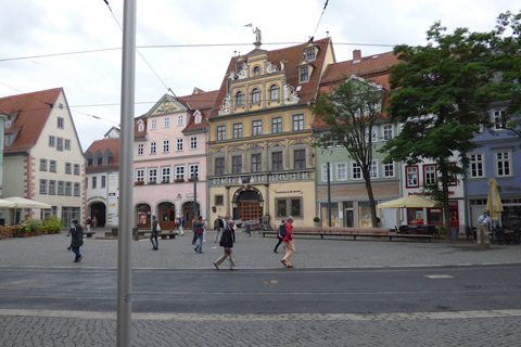 Town square in Erfurt.